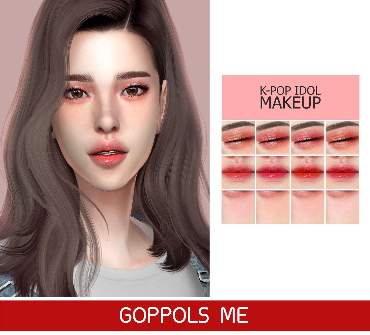 Gpme Kpop Idol Makeup Sims 4 Anime Sims 4 The Sims 4 Skin