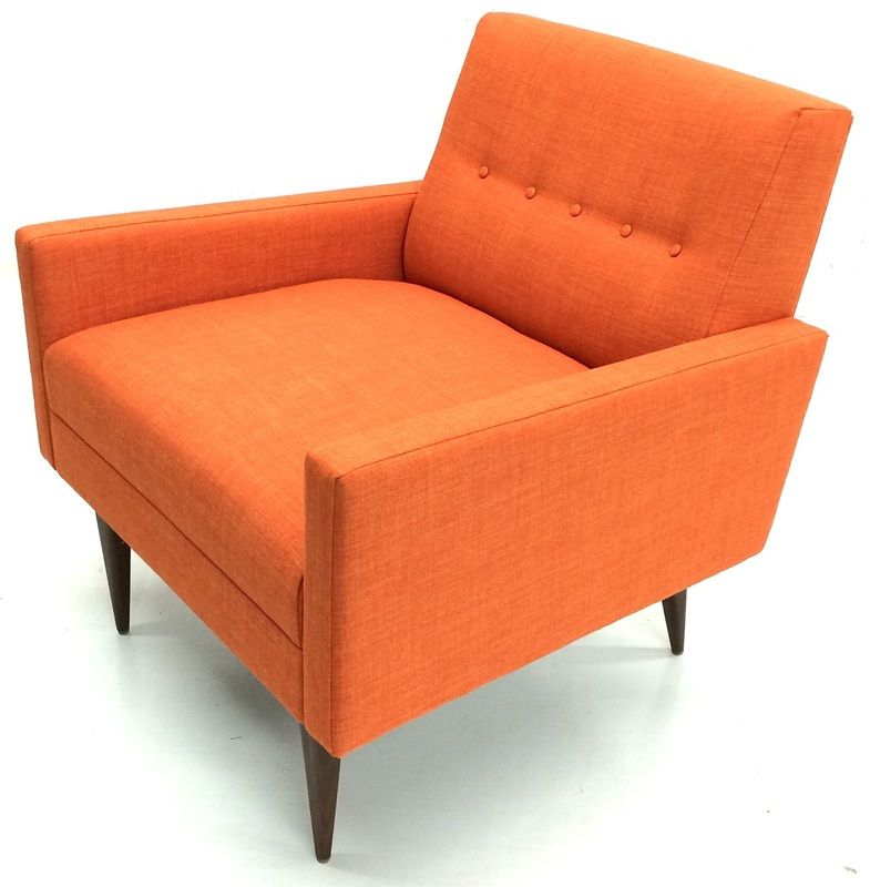 Orange club chair mid century modern muebles for Muebles increibles