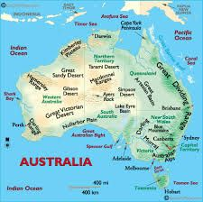 Australia Map Natural Features.Pin On Australia Map