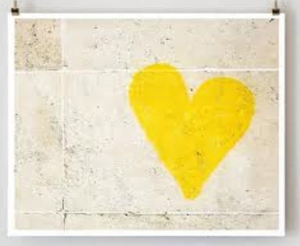 Yellow heart | Hearts ( copper- Silver- gold - purple - pink - white ...