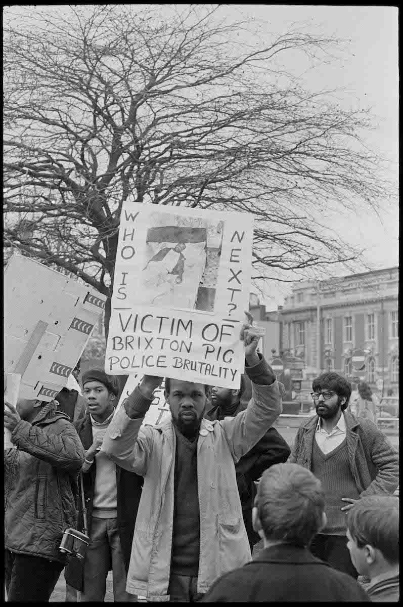 Untitled Demonstration In Support Of Joshua Francis Brixton London 1972 F Commercial Photography Studio National Portrait Gallery Black Panthers Movement