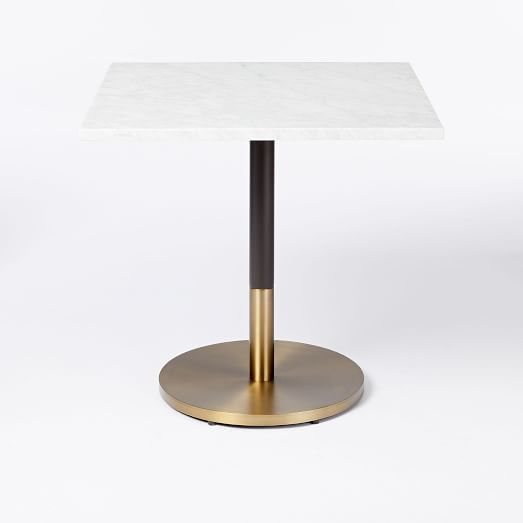 Modern Stylish 63 71 79 White Faux Marble Dining Table
