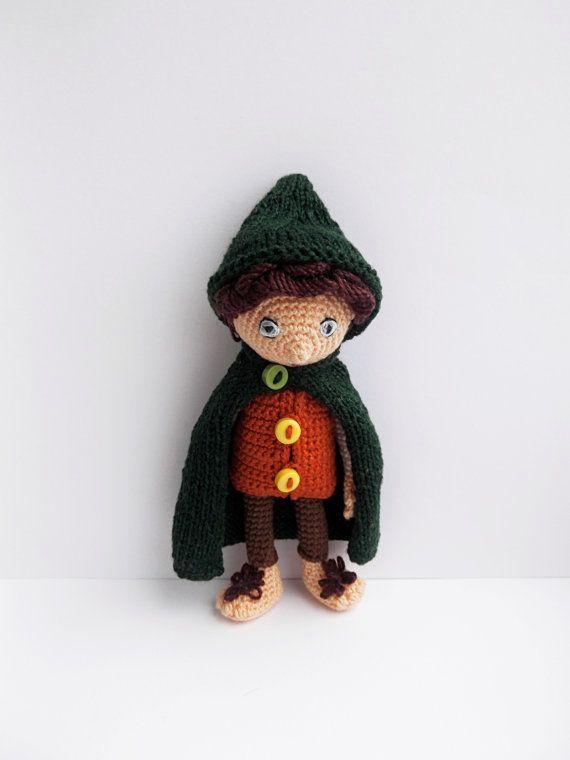 Frodo - handmade hobbit doll | Hobbit, El hobbit y Patrón de ganchillo