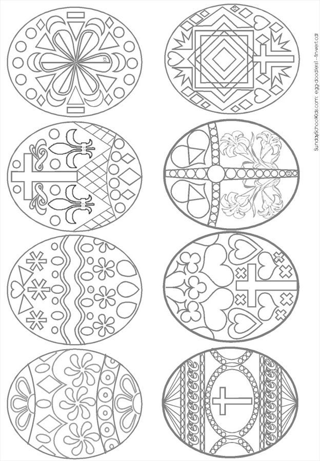 Russian Easter Eggs Coloring Pages. Easter Eggs coloring page