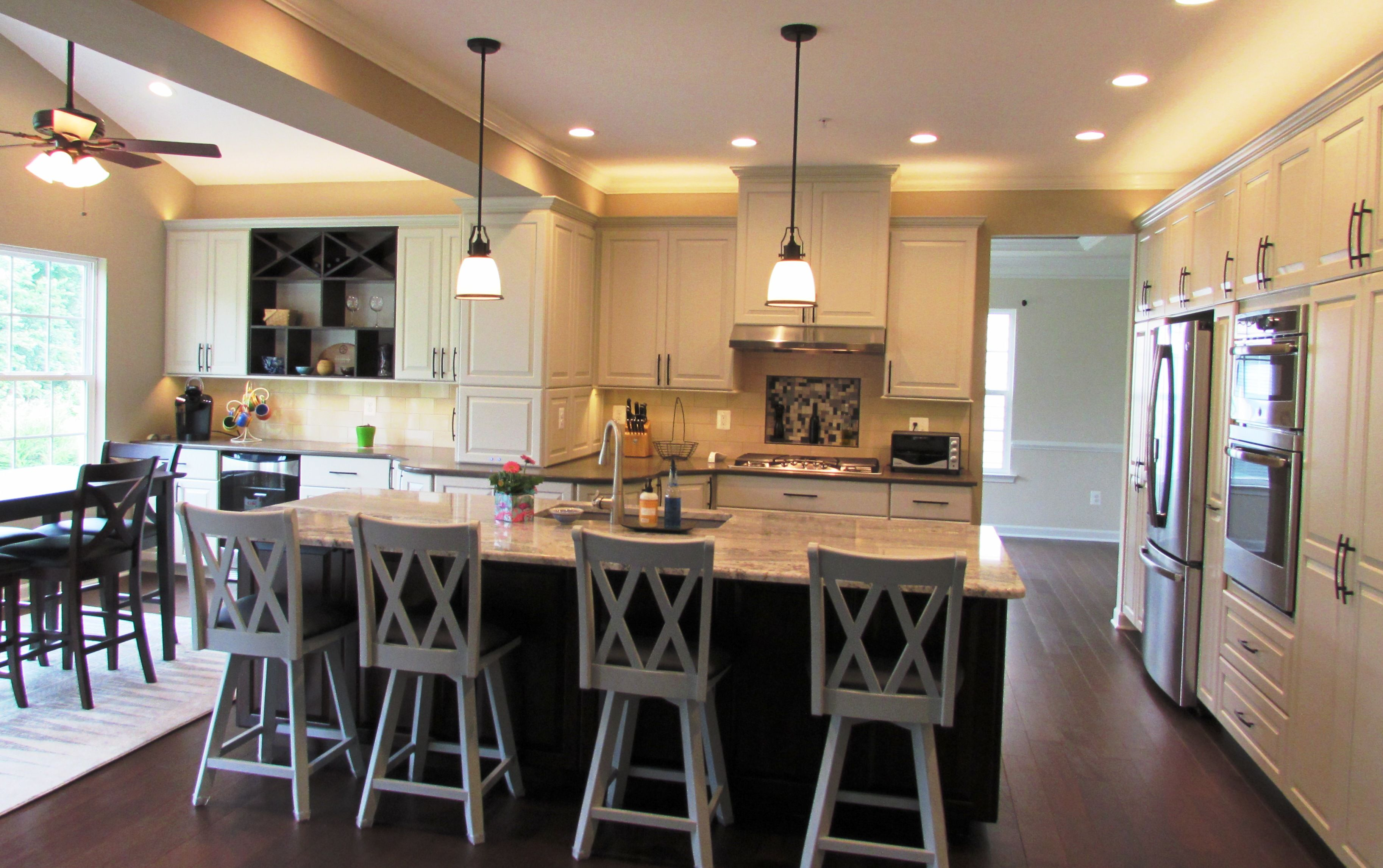 Great Urbana, MD Kitchen Remodel With Under Cabinet Lighting And Crown Lighting  Above Design Inspirations