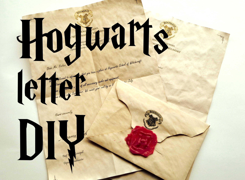 DIY tutorial for a Harry Potter hogwarts acceptance letter