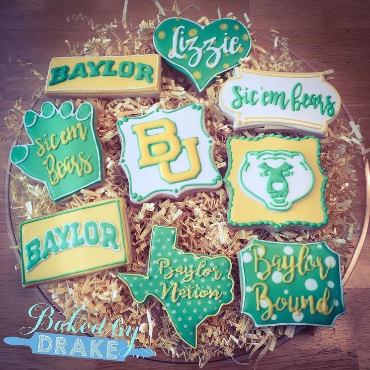 Custommade Baylor cookies! SicEm Baylor, Graduation