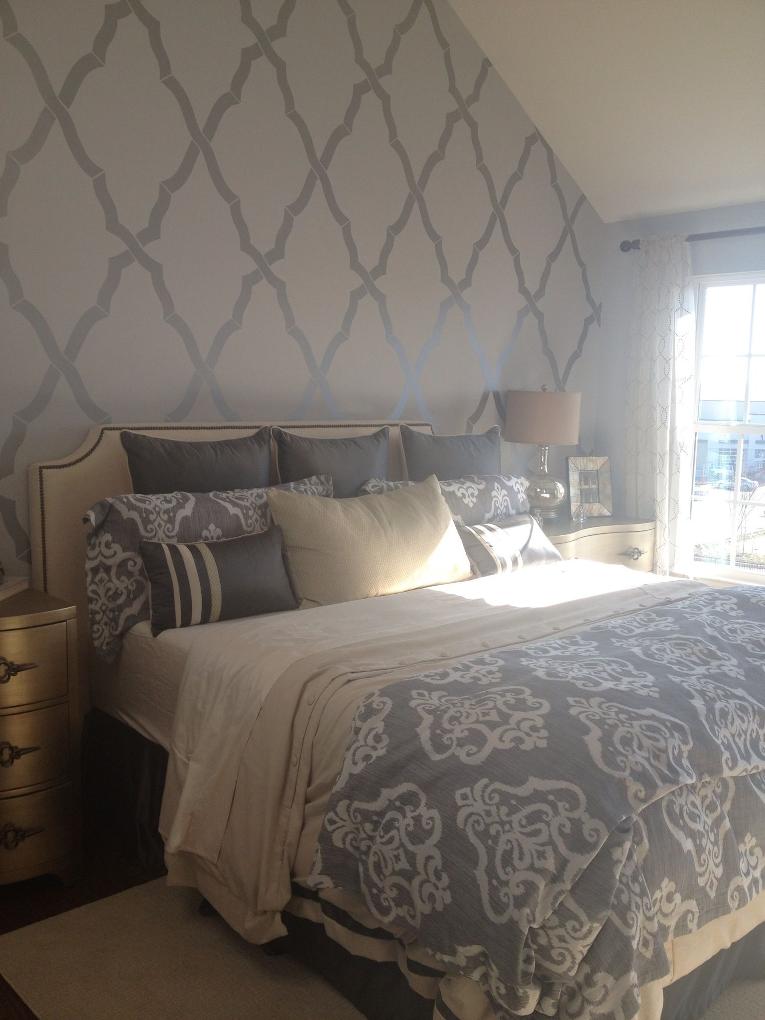 Best Master Bedroom With Feature Wall With Images Wallpaper 400 x 300