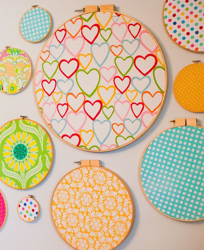 Fabric embroidery hoops
