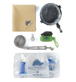 The Boltwell Pet Emergency kit has many wonderful products to use at home or on the road.