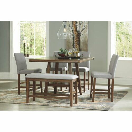 31++ 6 piece dining table set with bench Various Types