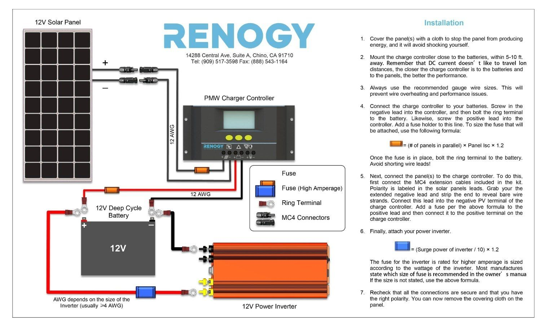 hight resolution of rv starter wiring diagram renogy 100w mono solar panel rv starter kit rv solar panel kit inrenogy 100w mono solar