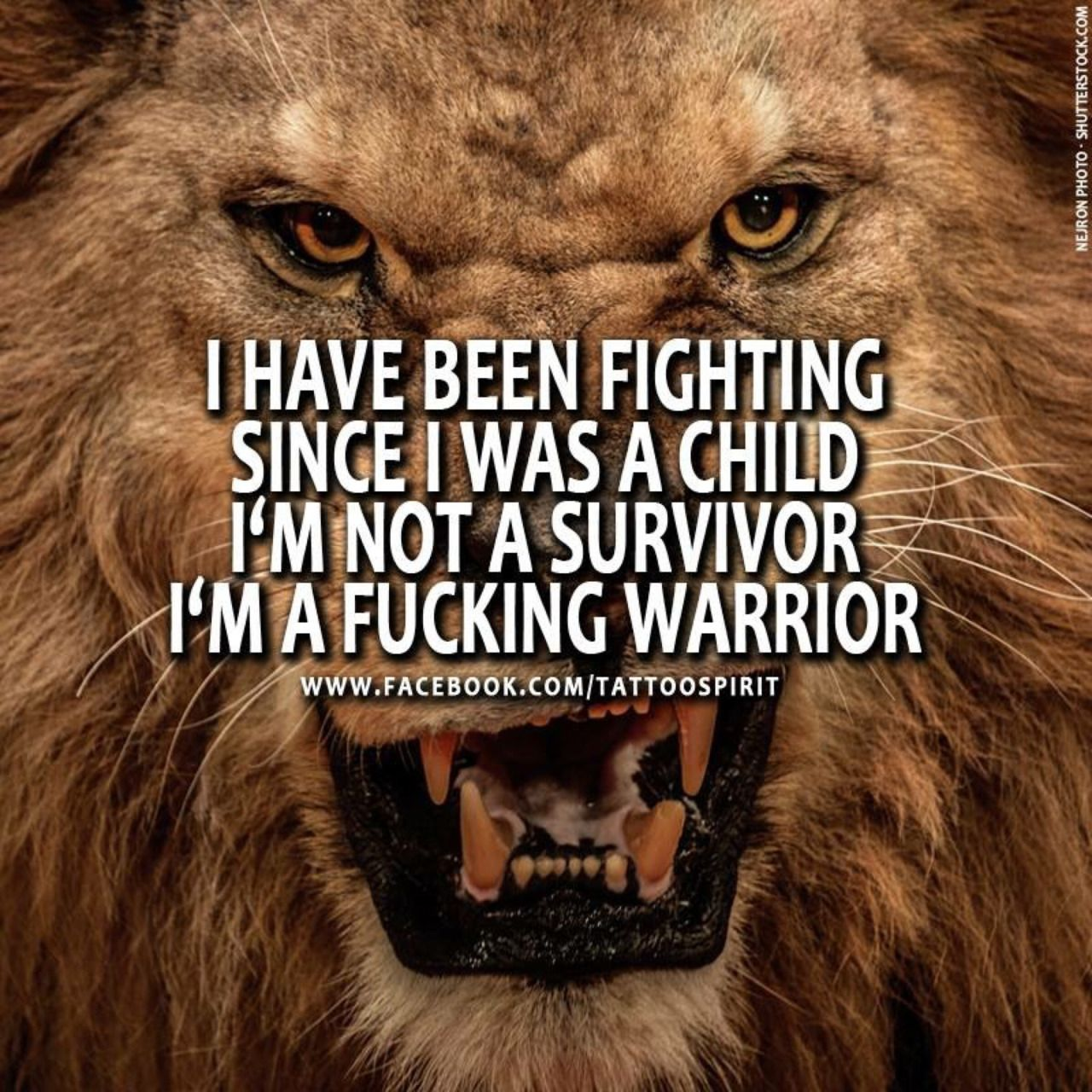 Fighters are born, not made!