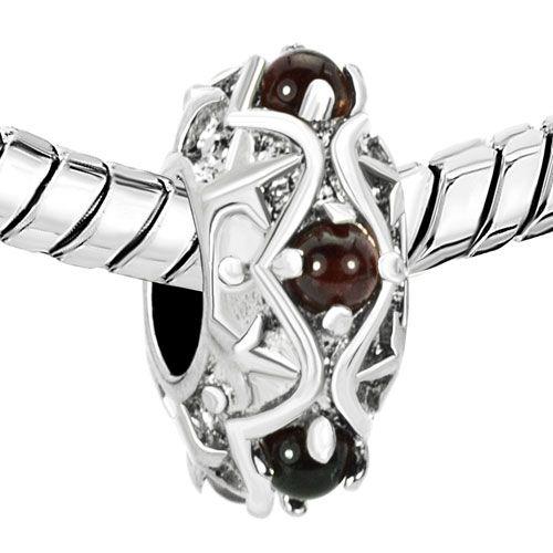 Charms Beads - birthstone charms feb birthstone amethyst purple crystal diamond accent spacer bead Image.