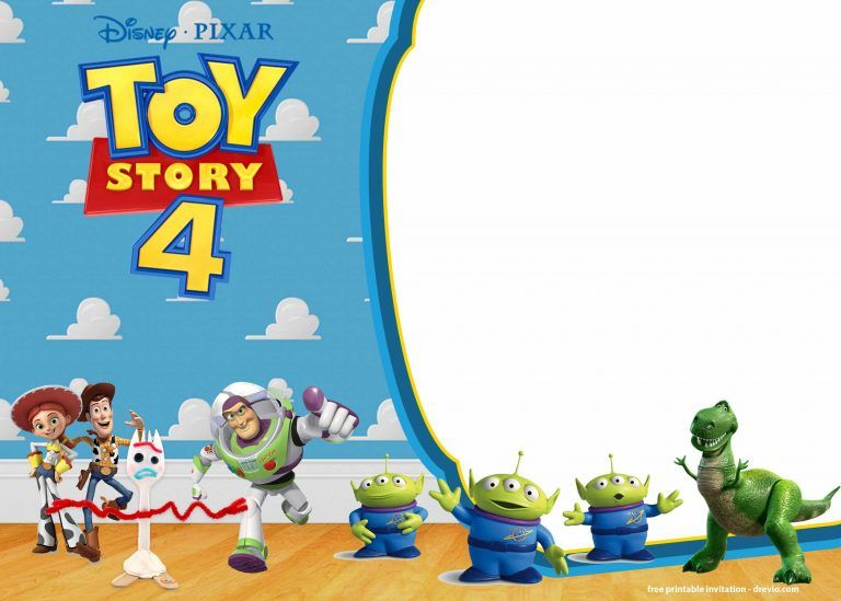 free printable toy story 4 invitation