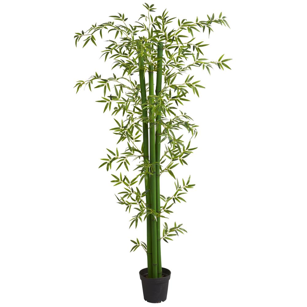 Nearly Natural Indoor 8 Ft Bamboo Artificial Tree 5595 The Home Depot Artificial Plants Decor Bamboo Tree Artificial Tree