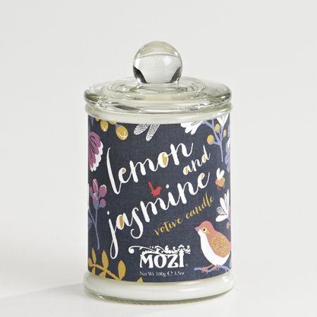 votive candle - lemon & jasmine
