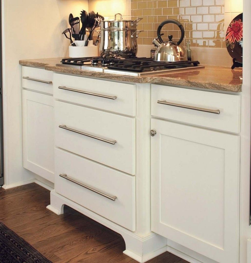 Kitchen cabinet and drawer fronts - White Shaker Cabinets With Slab Drawer Fronts Used To Create A Buffet Bureau With Increased