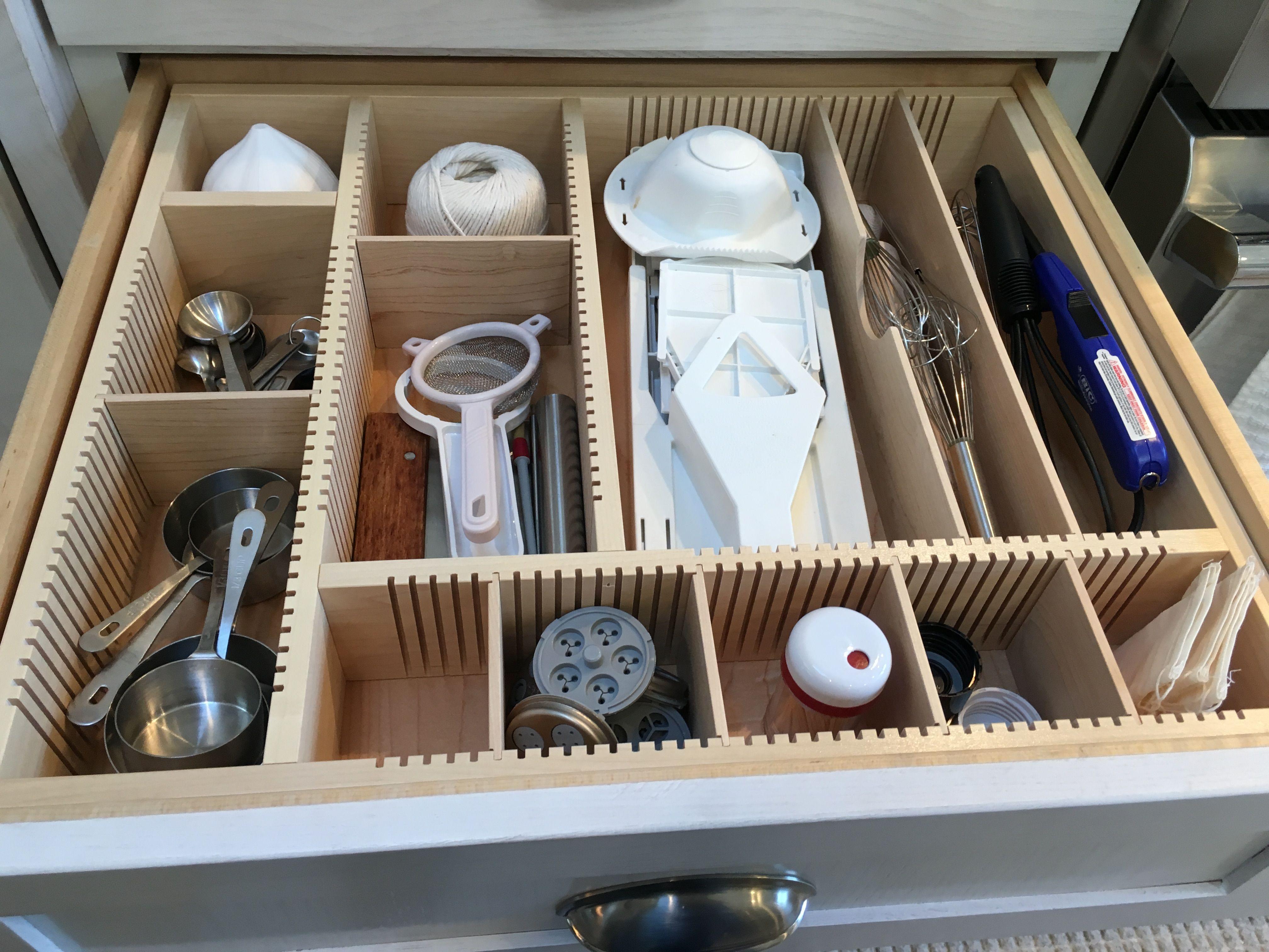 Adjustable Large Kitchen Utensil Drawer Organizer Kitchen