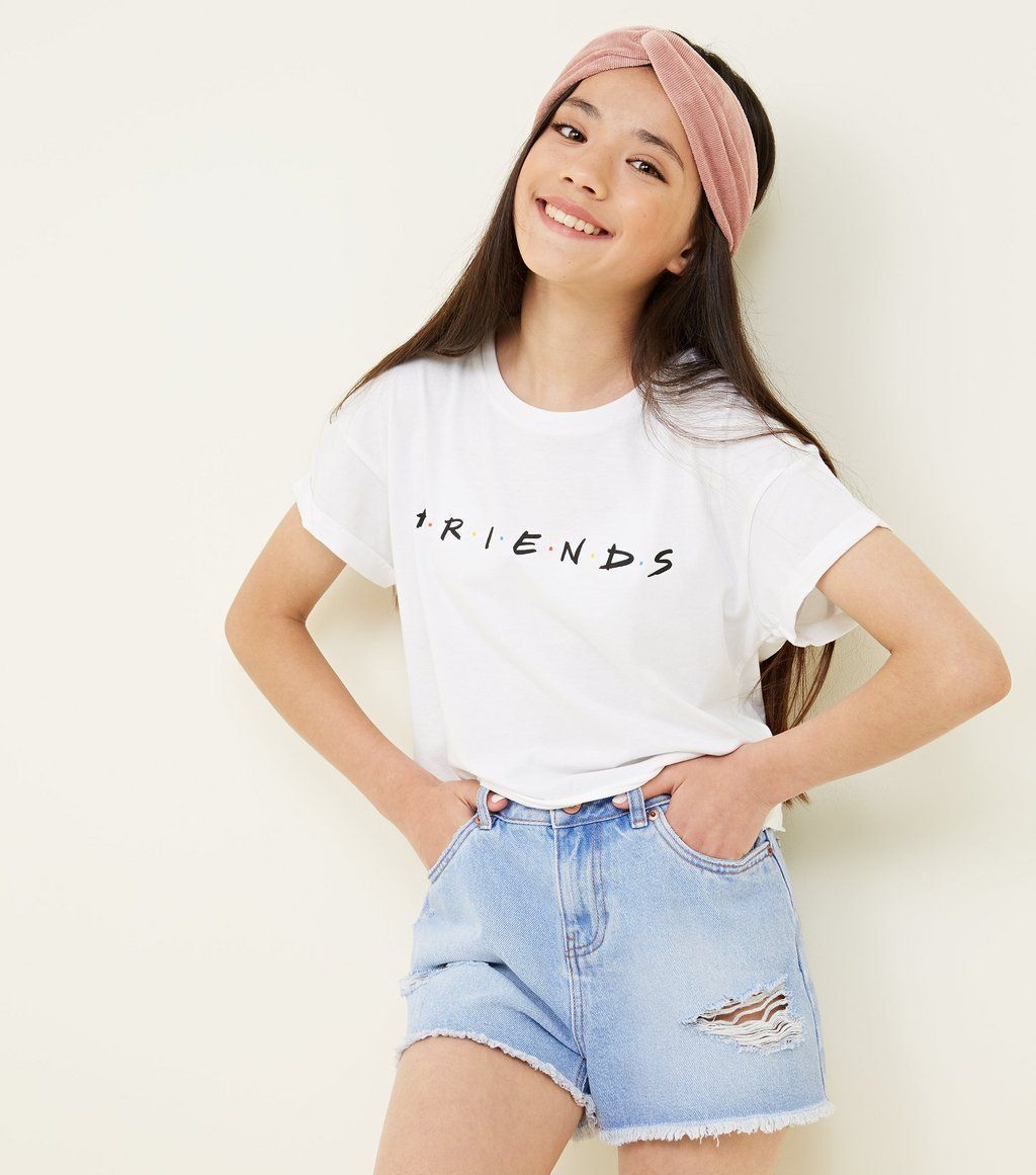 Girls White Crew Neck Friends Logo T-Shirt | New Look