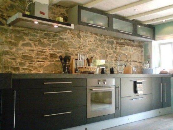Crédence En Pierre Naturelle Cuisine Pinterest Crédence - Carrelage credence verre cuisine pour idees de deco de cuisine