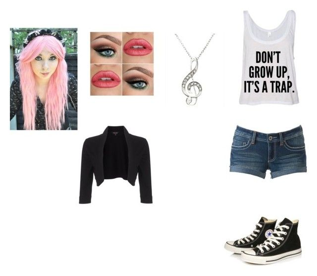 """Evia Dame"" by bvbgirl134 ❤ liked on Polyvore featuring Converse and Phase Eight"