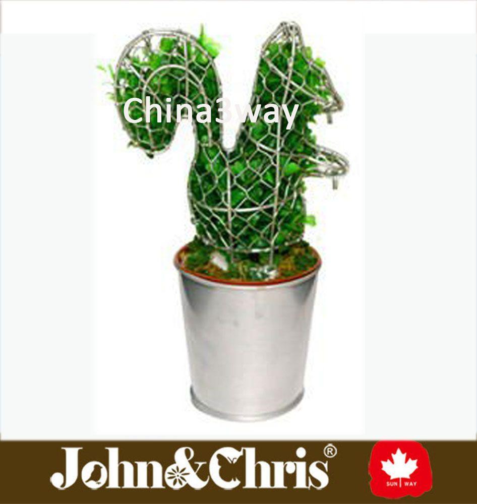 Alambre de Metal ardilla topiary marco-imagen-Otros Decoraciones de ...