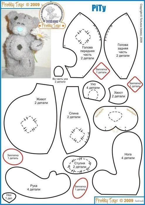 Teddy bear   Kinder   Pinterest   Schnittmuster, Kuscheltiere und Nähen