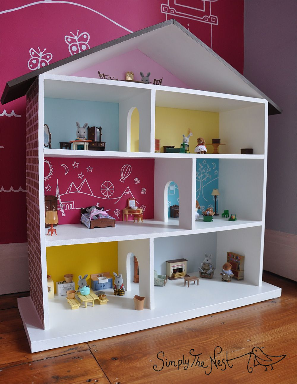 A DIY dollhouse project by Simply The Nest a UK