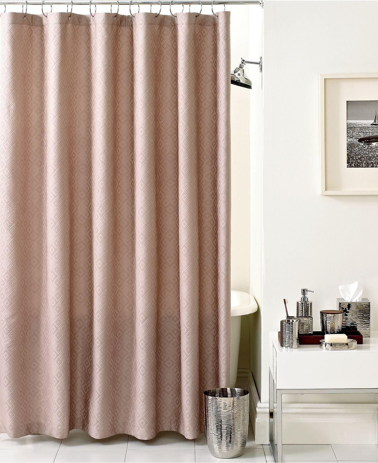 Hotel Collection Bath Diamond Matelasse Shower Curtain Shower