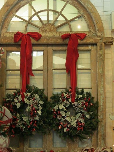 Double Christmas Wreaths