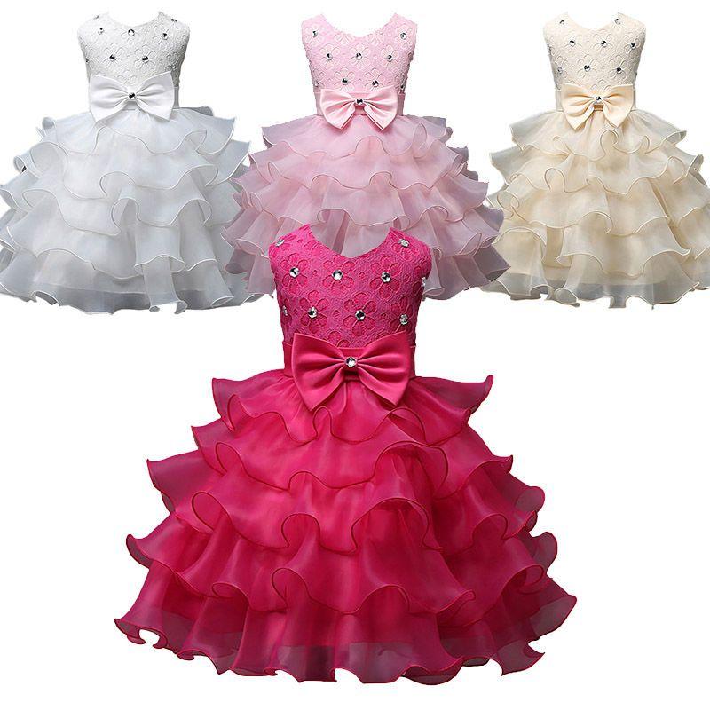 Blumen Mädchen Prinzessin Kleid Hochzeit Bridesmaid Formal Bogen ...