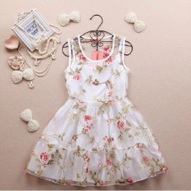 Girly floral dress