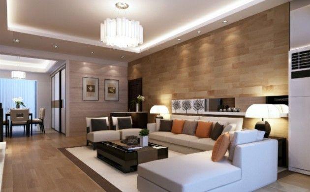 schönes wohnzimmer weißes ecksofa abgehängte decke moderne - abgehängte decke wohnzimmer