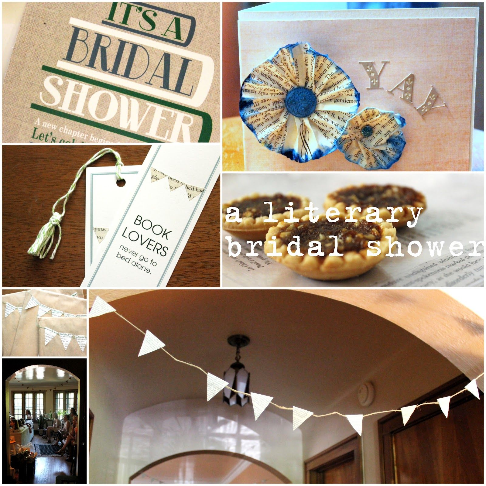 A Literary Bridal Shower {DIY/how-to Post}