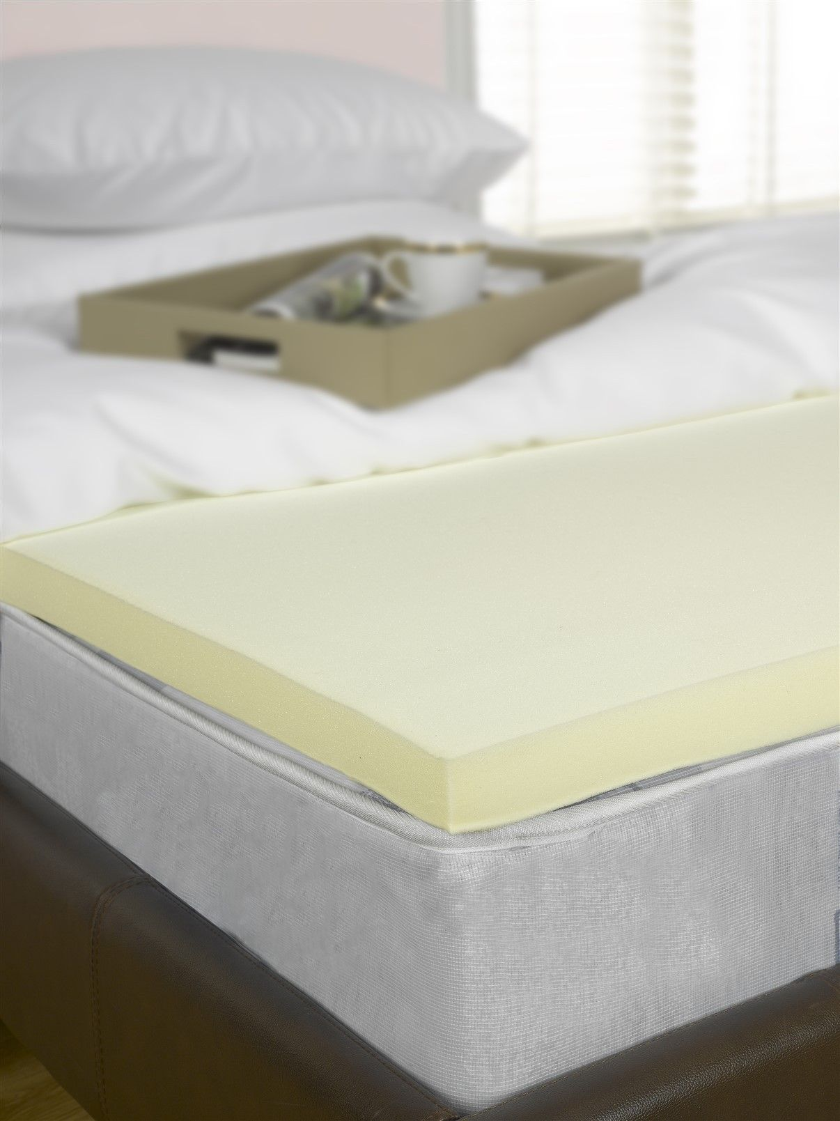 1 Single Bed Visco Memory Foam Mattress Topper 3ft 25mm Foam
