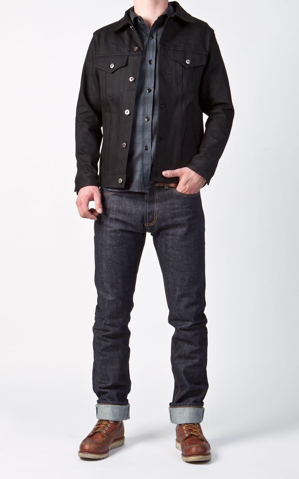 3sixteen Type 3s Trucker Denim Jacket Double Black Selvage Denim Fashion Men Fashion Casual Outfits Denim Jacket Men [ 1600 x 1000 Pixel ]