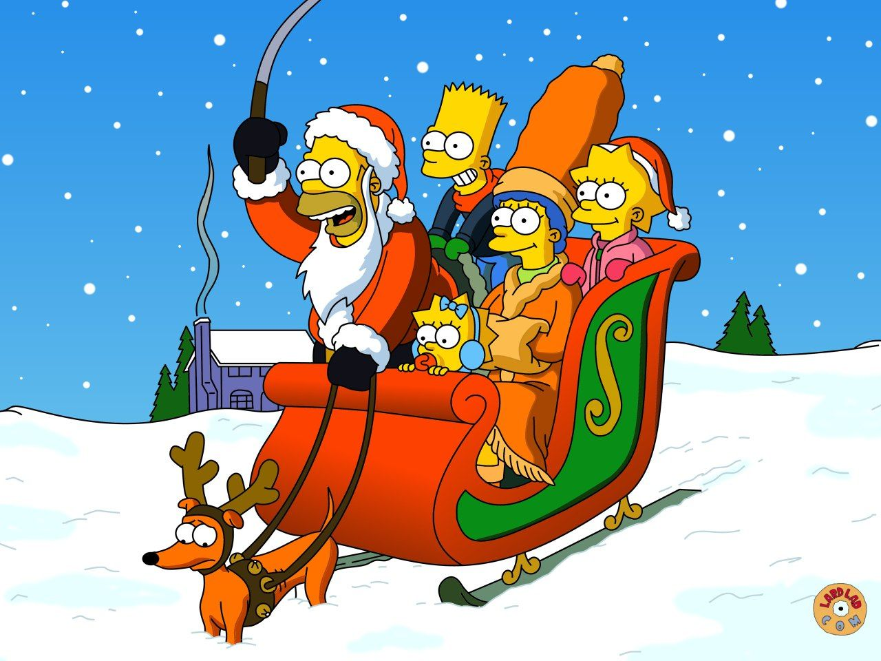 Tumblr Fondos De Pantalla De Navidad: Fondos De Pantalla De Navidad De Los Simpson Para Pantalla