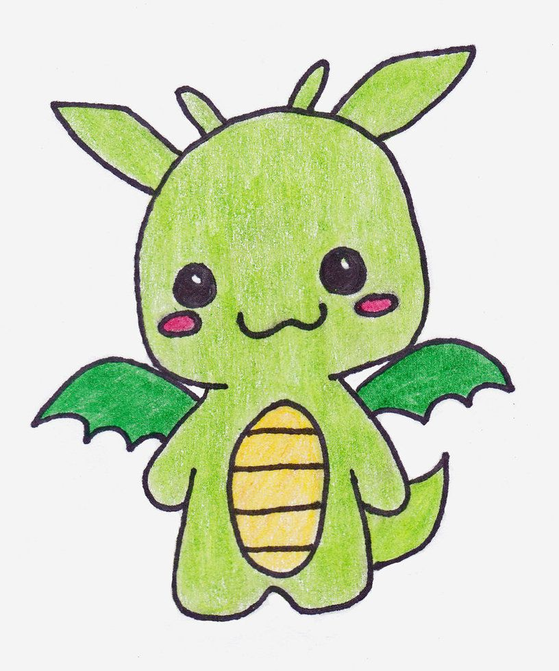 This Is My Little Dragon This Is My Art So Please Do Not Steal This Is A Contest Entry For I Used Diffe With Images Cute Easy Drawings Cute Dragon