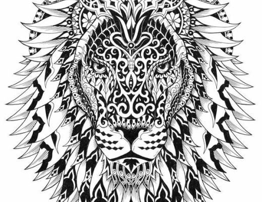Adult Coloring Pages Lion 4