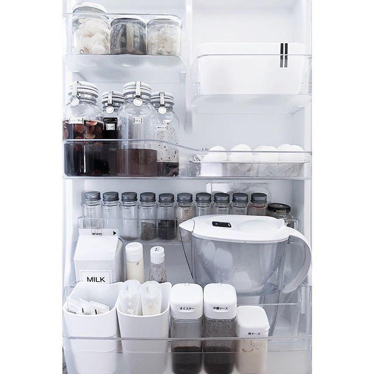Kanahさんはinstagramを利用しています 自宅の冷蔵庫収納 ドア