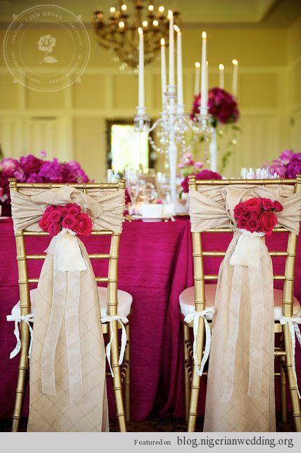 Wedding Chair Cover Designs Nigerian Wedding 10 Classy