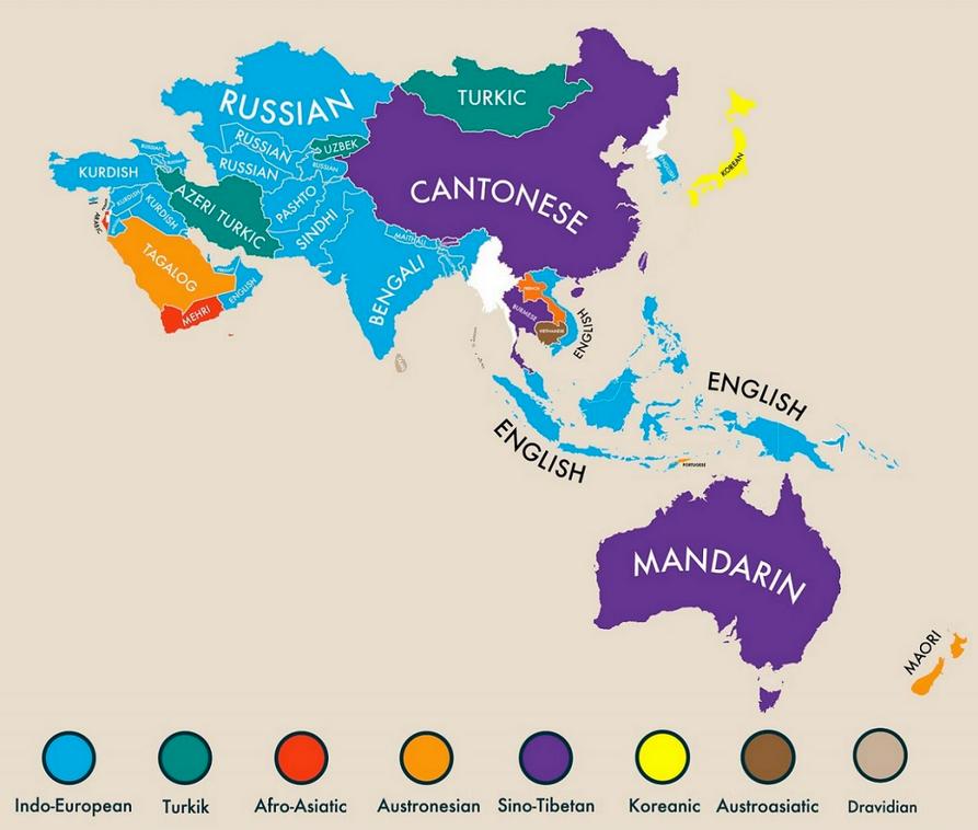 Segunda lengua más hablada en cada país