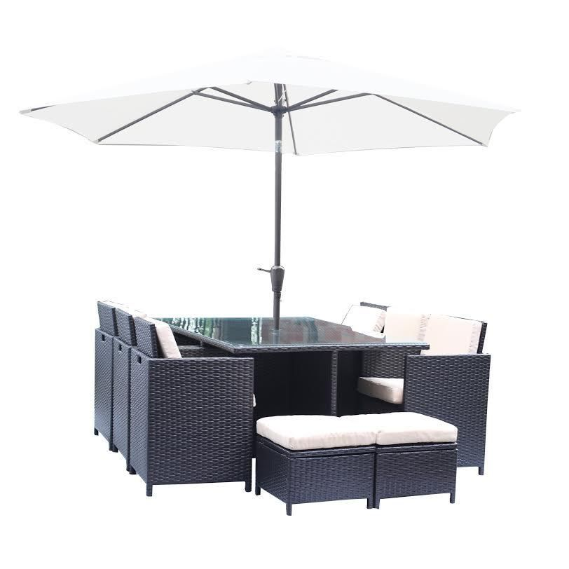 Rattan Outdoor Garden Furniture Patio Cube 10 Seater Dining Set Parasol Outdoor Garden Furniture Patio Garden Furniture