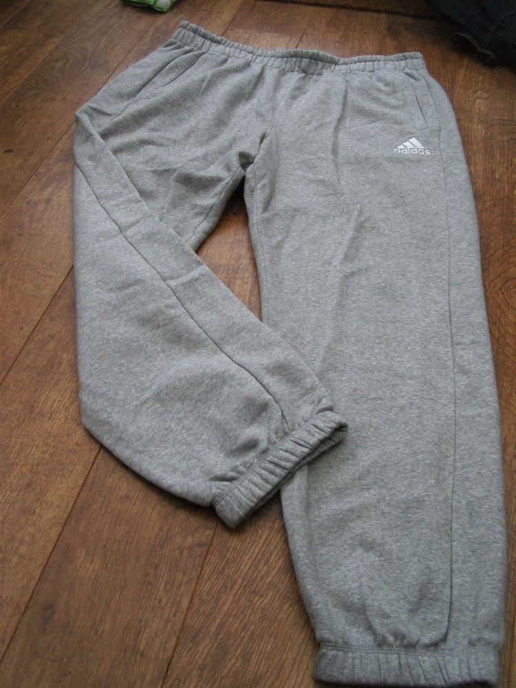 adidas fleece tracksuit bottoms