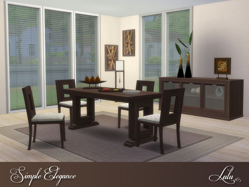Simple, Uncluttered And Elegant , With The Hint Of An Asian Theme. This  Dining