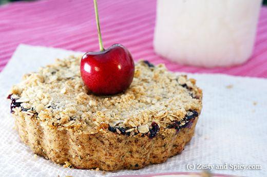 Mini Cherry Pies with crumble top