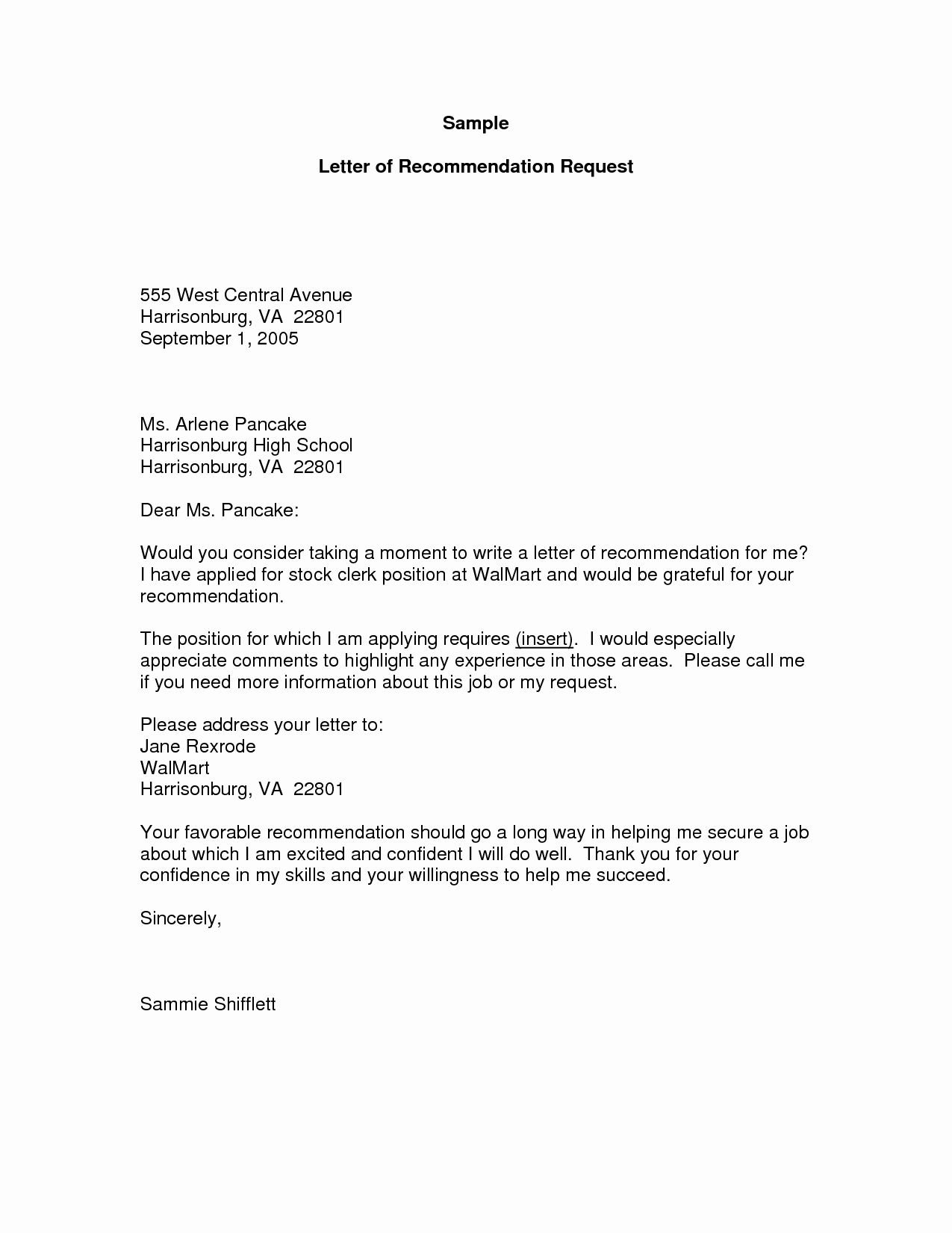 30 asking for Letter Sample in 2020