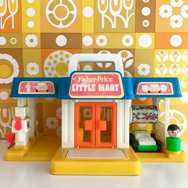 orangevertevintage station service fisher price vintage little mart vintage fisher price