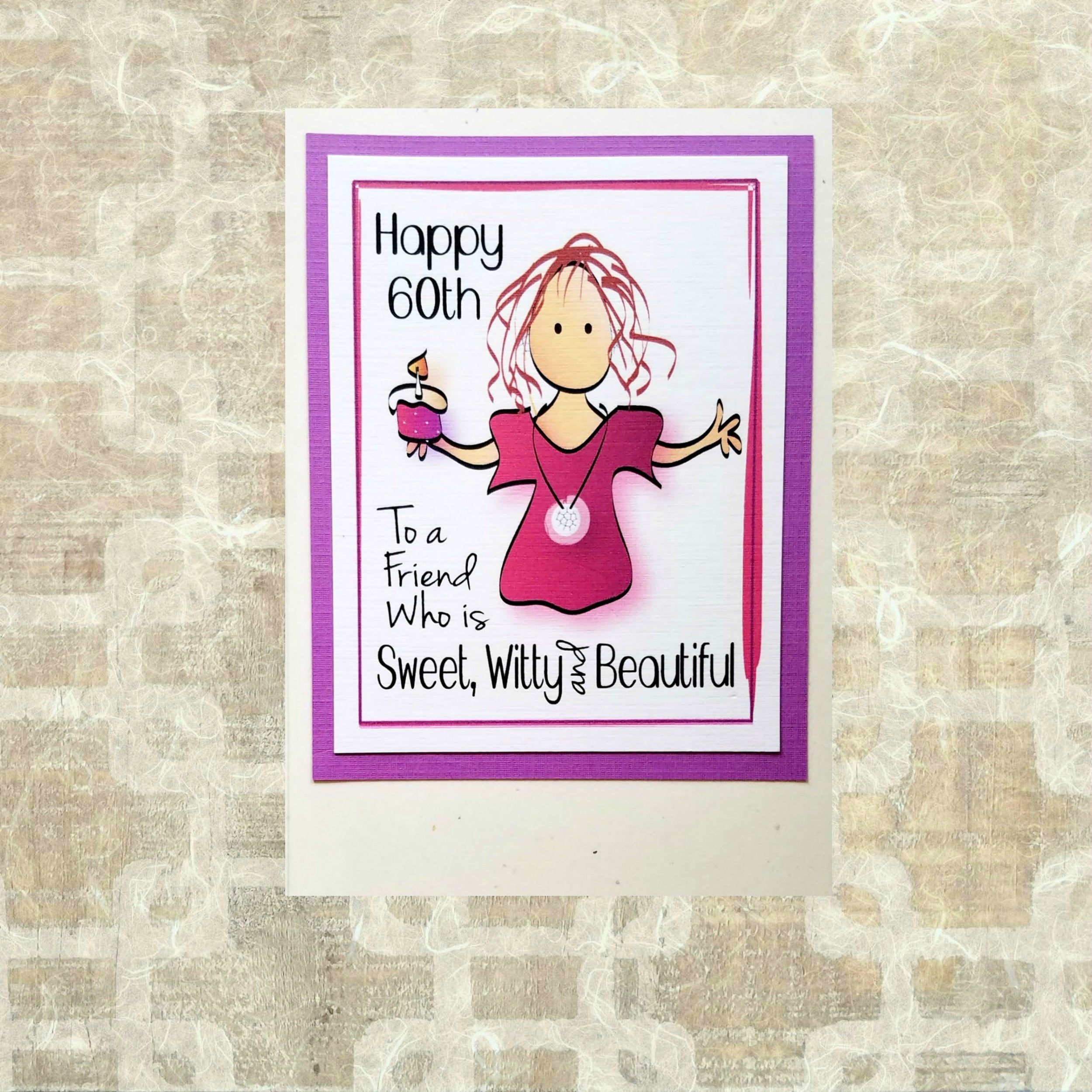 60th Birthday Card For Women Snarky Birthday Card For Her Etsy In 2021 60th Birthday Cards Birthday Cards For Her Birthday Cards For Women